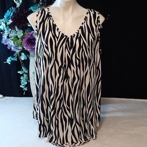 Amana Zebra Blouse 2XL